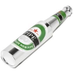 Fajka metalowa Butelka 52027 Silver