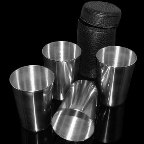 Kieliszki metalowe duże 17002 (4 sztuki)